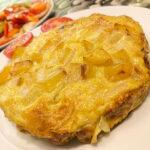 Pastel de tortilla de patata prebiótica